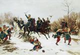 "Арт-студия ""Кентавр"" - ""Бой между прусскими уланами и французскими солдатами-пехотинцами"" №008620"