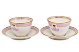 """Арт-студия """"Кентавр"""" - Чайные пары из личного сервиза императора Александра III (1881-1894гг) №008626"""