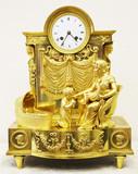 """Арт-студия """"Кентавр"""" - Старинные каминные часы с боем """"Молитва перед сном"""". Начало1820-х.гг. №008842"""