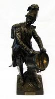"""Арт-студия """"Кентавр"""" - Скульптура бронзовая """"Перед сраженьем. Волонтер 1792 года"""" 1860-1880гг. №008931"""