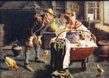 "Арт-студия ""Кентавр"" - Дзампиги Эугенио (1859-1944) - ""У колыбели"" №009010"