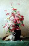 """Арт-студия """"Кентавр"""" - Виллебессо Женни (род.1854г) - """"Букет цветов, скрипка и ноты"""" №009021"""