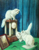 """Арт-студия """"Кентавр"""" - Хейер Артур (1872-1931) - """"Три любопытных кошки"""" Около 1930 г. №009184"""