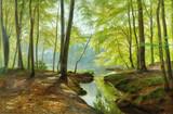 """Арт-студия """"Кентавр"""" - """"Весенний день на лесном озере в Хелебеке"""" №009227"""