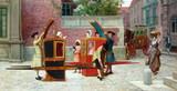 """Арт-студия """"Кентавр"""" - Йемес Уильям Фредерик (1835-1918) - """"Самая последняя сплетня"""" (""""Встреча в портшезах""""). №009361"""