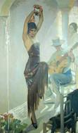 "Арт-студия ""Кентавр"" - Понс Арно Франсиско (1886-1955) - ""Танцовщица фламенко""1931г №009368"