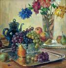 """Арт-студия """"Кентавр"""" -  """"Натюрморт с виноградом и грушами"""" №009481"""