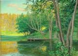 "Арт-студия ""Кентавр"" - Краутен Йохан (1858-1932) - ""Осенний пейзаж"" 1906г №009505"