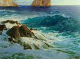 "Арт-студия ""Кентавр"" - Спаун Пауль фон (1876-1932) - ""Морской пейзаж у побережья Капри"" №009639"