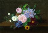 """Антиквариат.ру - Камрадт Иоханнес Людвиг (1779-1849) - """"Букет цветов"""" 1819г. №009751 - С 1794 по 1797 год был учеником на Королевской фарфоровой мануфактуре в Копенгагене. С 1797 года продолжил образование в Королевской Академии художеств в Копенгагене. В 1821 году художник был избран назначенным в Копенгагенскую Академию художеств, с 1823 года - член Академии. Между 1810-1843 годами постоянно участвовал в академических выставках в Шарлоттенборге, где  в 1806 году его цветочный натюрморт был отмечен малой серебряной медалью."""