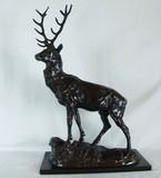 """Арт-студия """"Кентавр"""" - Скульптура бронзовая """"Благородный олень"""" 1860-е годы №009985"""