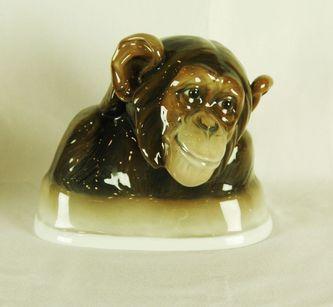 """Арт-студия """"Кентавр"""" - Фарфоровая статуэтка """"Обезьяна шимпанзе"""" 1904 г №010011"""