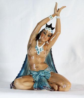 """Арт-студия """"Кентавр"""" - Статуэтка """"Индийская танцовщица-огнепоклонница"""" (из серии """"Народы мира"""") №010086"""