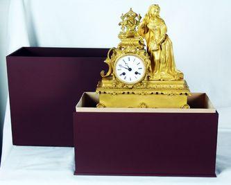 """Арт-студия """"Кентавр"""" - Старинные каминные часы с боем в готическом стиле. №010165"""
