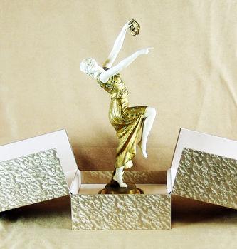 """Арт-студия """"Кентавр"""" - Скульптура бронзовая """"Танцовщица с маской"""" Конец 1910-х годов. №010336"""