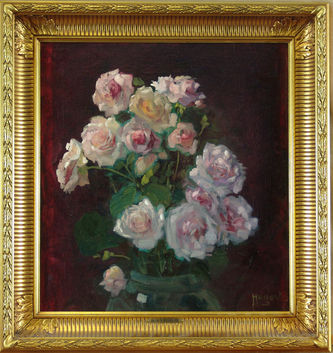 """Арт-студия """"Кентавр"""" - Педерсен Хуго (1870 - 1959)  - """"Розы""""  №010372"""