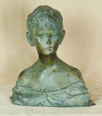 "Арт-студия ""Кентавр"" - Скульптура бронзовая - ""Бюст мальчика""  №010431"