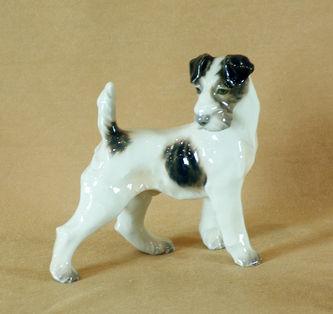 """Арт-студия """"Кентавр"""" -  Фарфоровая статуэтка собаки породы Фокстерьер №010537"""