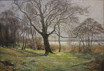 """Арт-студия """"Кентавр"""" - """"Весенний пейзаж"""" 1920г №010876"""