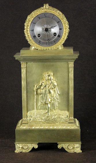 """Арт-студия """"Кентавр"""" - Старинные  каминные часы с боем 1830-1840 -е годы. №010936"""