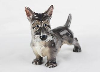 """Арт-студия """"Кентавр"""" - Фарфоровая статуэтка собаки породы Скотч-терьер (Шотландский терьер) №010948"""