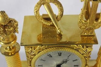 """Арт-студия """"Кентавр"""" - Cтаринные каминные часы с боем """"Эвтерпа - покровительница музыки"""" №011064"""