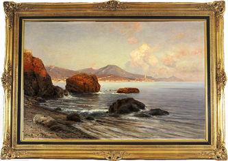 """Арт-студия """"Кентавр"""" - Луттерот Аскан (1842 - 1923) - """"Вечер на побережье близ Генуи"""" №011114"""