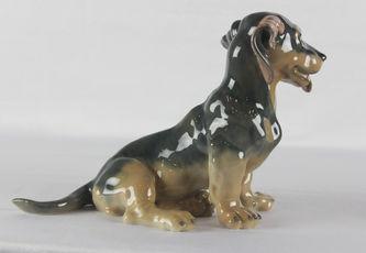 """Арт-студия """"Кентавр"""" - Фарфоровая статуэтка собаки породы такса №011129"""