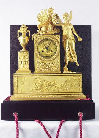 """Арт-студия """"Кентавр"""" - Антикварные часы каминные в стиле ампир """"Психея"""" №011184"""