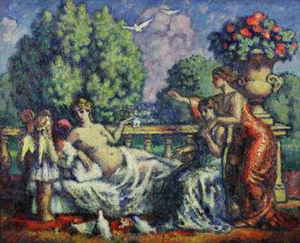 """Арт-студия """"Кентавр"""" - Герен Шарль (1875-1939) - """"Подношение Красоте""""  №011342"""