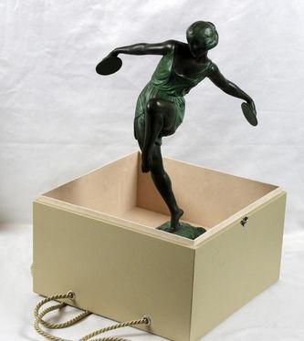 """Арт-студия """"Кентавр"""" - Скульптура бронзовая в стиле Арт-Деко """"Танцовщица с кимвалами"""". 1920-1930-е годы №011438"""