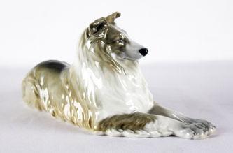 """Арт-студия """"Кентавр"""" - Фарфоровая статуэтка собаки породы Колли №011516"""