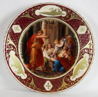 """Арт-студия """"Кентавр"""" - Тарелка декоративная с изображением античной жанровой сцены. №011538"""
