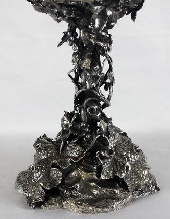 """Арт-студия """"Кентавр"""" - Старинная серебряная ваза для фруктов со стеклом №011584"""