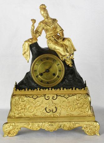 """Арт-студия """"Кентавр"""" - Cтаринные каминные часы с боем в мусульманском стиле """"Восточная красавица"""" №011585"""