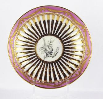 """Арт-студия """"Кентавр"""" - Чайная пара с крышкой в стиле ампир с портретом в медальоне №011639"""