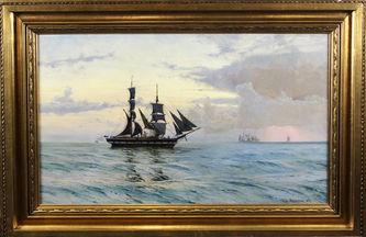 """Арт-студия """"Кентавр"""" - """"Закат на море"""", 1887г №011685"""