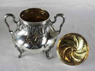 """Арт-студия """"Кентавр"""" - Старинный серебряный чайно- кофейный сервиз. №011856"""