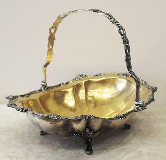 """Арт-студия """"Кентавр"""" - Антикварная конфетница с декором в виде виноградной лозы №011889"""