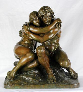 """Арт-студия """"Кентавр"""" - Старинная скульптура """"Адам и Ева""""  №011997"""