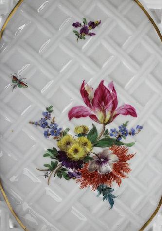 """Арт-студия """"Кентавр"""" - Ваза для фруктов в виде корзины с цветочным декором №012045"""