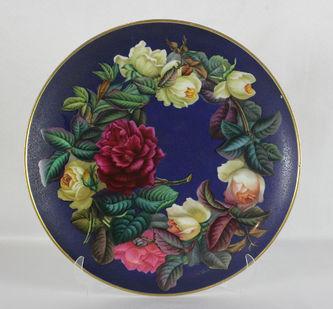 """Арт-студия """"Кентавр"""" - Большая тарелка с цветочным натюрмортом №012106"""