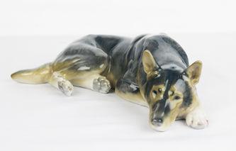 "Арт-студия ""Кентавр"" -  Фарфоровая статуэтка собаки породы Овчарка №012117"
