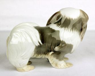 """Арт-студия """"Кентавр"""" - Фарфоровая статуэтка собаки породы Пекинес №012119"""