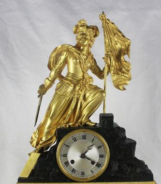 """Арт-студия """"Кентавр"""" - Старинные каминные часы с боем """"Аллегория Свободы"""" №012153"""