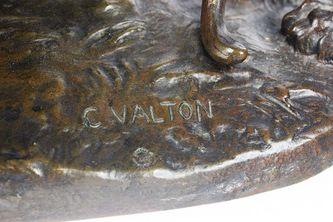 """Арт-студия """"Кентавр"""" - Бронзовая скульптура """"Играющие тигр и тигрица"""" 1890-е годы №012209"""