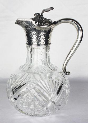 """Арт-студия """"Кентавр"""" - Старинный серебряный кувшин с декором в виде кувшинки №012250"""