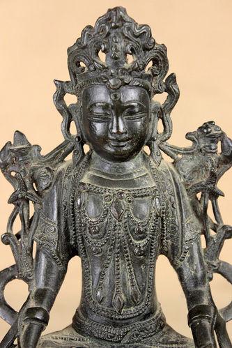 """Арт-студия """"Кентавр"""" - Старинная китайская бронзовая скульптура """"Будда"""" №012353"""