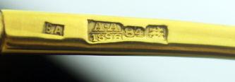 """Арт-студия """"Кентавр"""" - Серебряная ложка с полихромными эмалями и золочением №012442"""