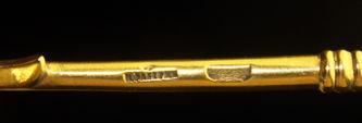 """Арт-студия """"Кентавр"""" - Серебряная ложка, украшенная расписной эмалью №012445"""